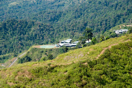 heliport: Heliport in the mountain Stock Photo