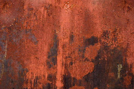 rust red: Red painted metal with rust texture background