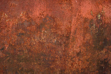 Red painted metal with rust texture background