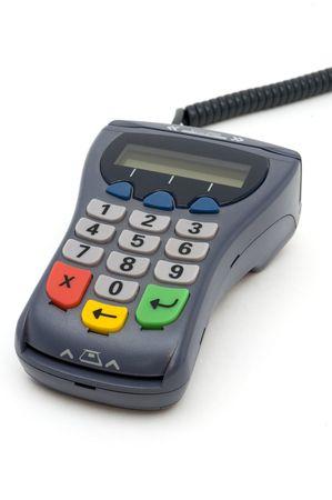 PIN-pad reader of POS-terminal with LCD screen photo