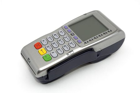 gprs: Modern wireless POS-terminal with battery and GPRS module