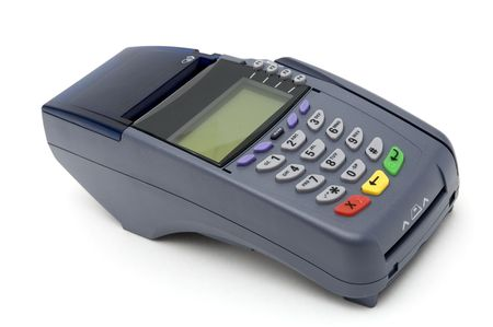 chip: Modern POS terminal with magnetic stripe and chip reader Stock Photo