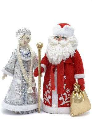 Grandfather Frost and Snowmaiden - russian Symbols of New Year and Christmas celebrations Stock Photo - 5852731