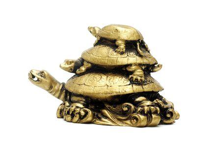 ancient turtles: Figure of three bronze turtles