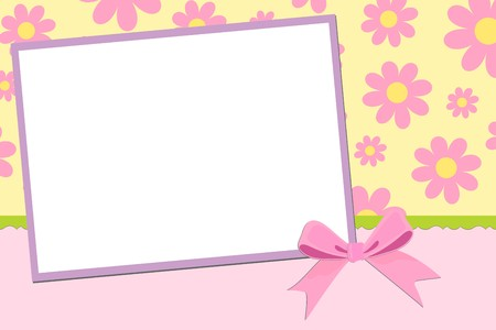 Blank template for greetings card, postcard or photo frame Vector