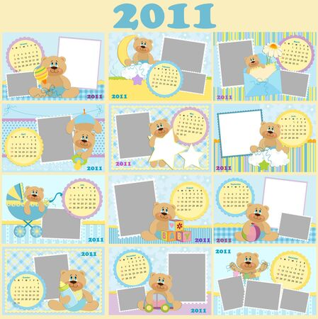 babys: Babys monthly calendars for 2011