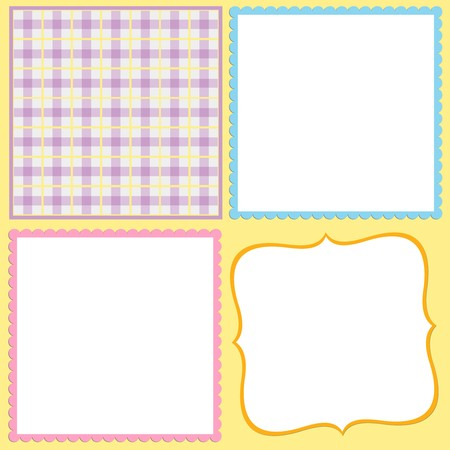 Blank background for greetings card, postcard or photo frame Stock Vector - 8180917