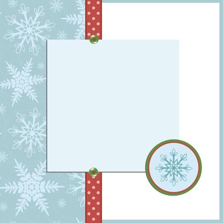 Blank template for Christmas greetings card, postcard or photo farme Illustration