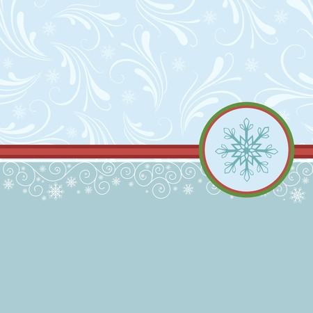 farme: Blank template for Christmas greetings card, postcard or photo farme Illustration