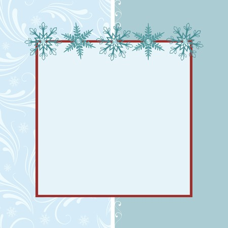 christmas photo frame: Blank template for Christmas greetings card, postcard or photo farme Illustration