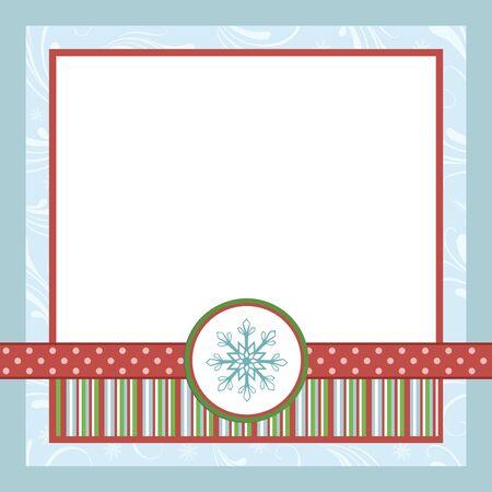 photo album page: Plantilla en blanco para farme de tarjeta, la tarjeta postal o la foto de saludos de Navidad