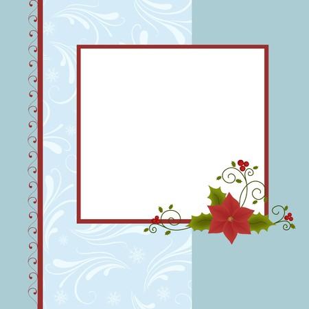 farme: Modello vuoto per Natale saluti farme di carta, cartolina o foto Vettoriali