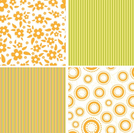 scrap book: Scrapbook elements. Collection of seamless patterns