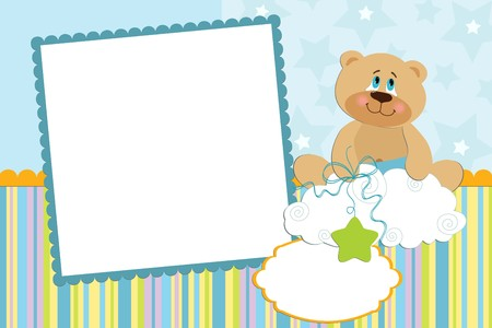 Template for baby's photo album or postcard Stock Vector - 8181322