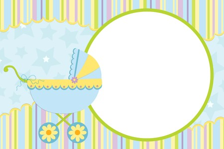 babys: Template for babys photo album or postcard
