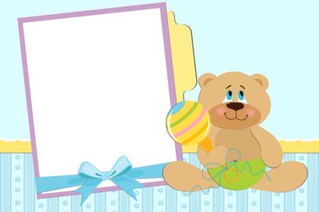 clack: Template for babys photo album or postcard