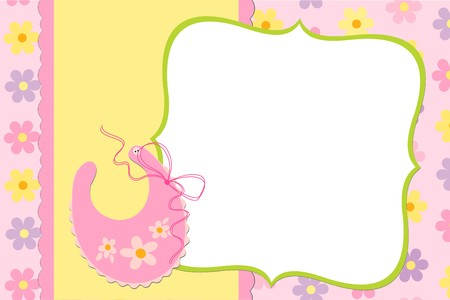 Template for baby's photo album or postcard Stock Vector - 8181085