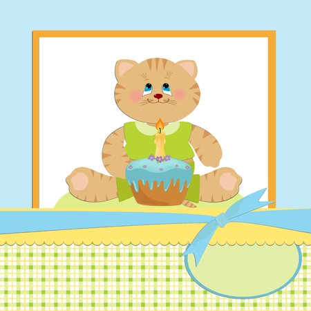 torte: Babys greetings card for 1 year birthday celebration