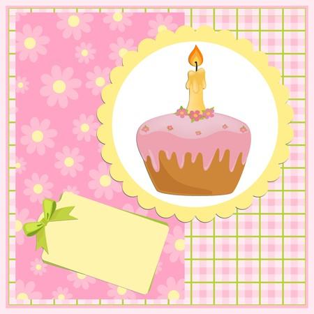 Tarjeta de saludos de bebé para el cumpleaños de un año Foto de archivo - 8181476