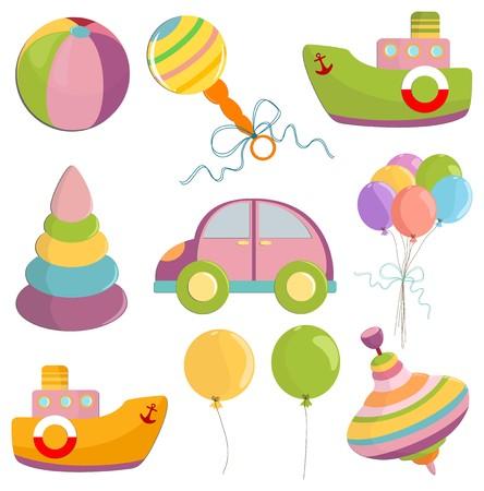 beanbag: Set of babys toys elements