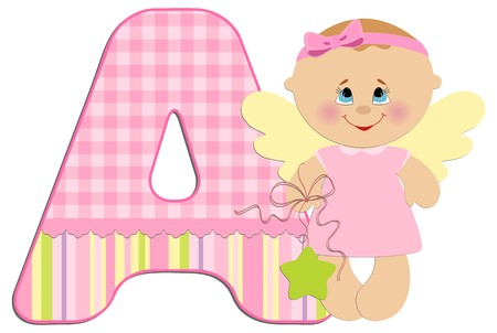 Babys illustrated ABC alphabet Vector