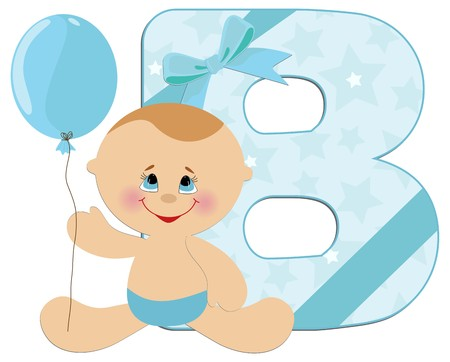 Baby's illustrated ABC alphabet Stock Vector - 8265123