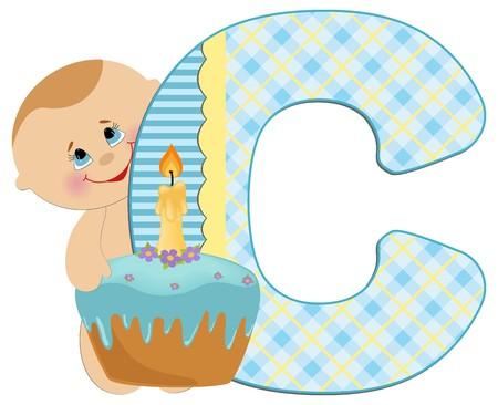 Baby's illustrated ABC alphabet Stock Vector - 8265268