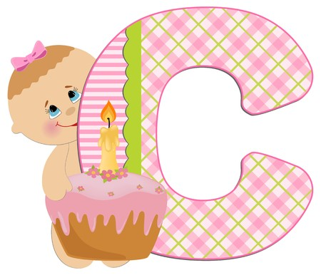 Babys illustrated ABC alphabet Illustration