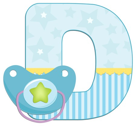 Babys illustrated ABC alphabet Vector