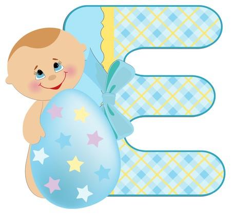 Baby's illustrated ABC alphabet Stock Vector - 8265197