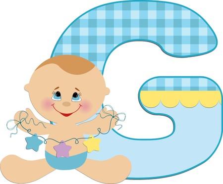 beanbag: Babys illustrated ABC alphabet Illustration