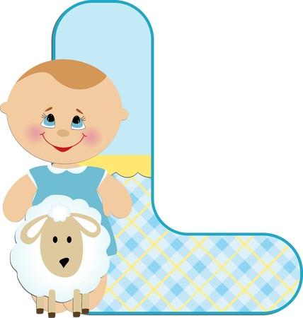 l boy: Babys illustrated ABC alphabet Illustration
