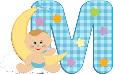 Baby's illustrated ABC alphabet Stock Vector - 8265164