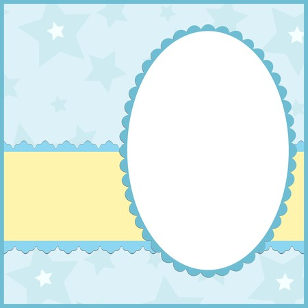 Blank template for greetings card or photo frame in blue colors Stock Vector - 8265103