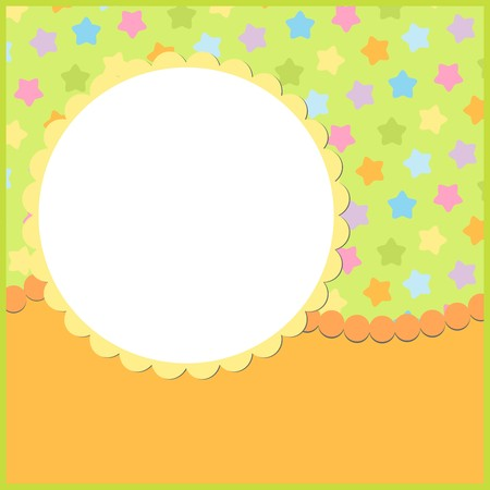 Blank colorful template for greetings card or photo frame Stock Vector - 8265115