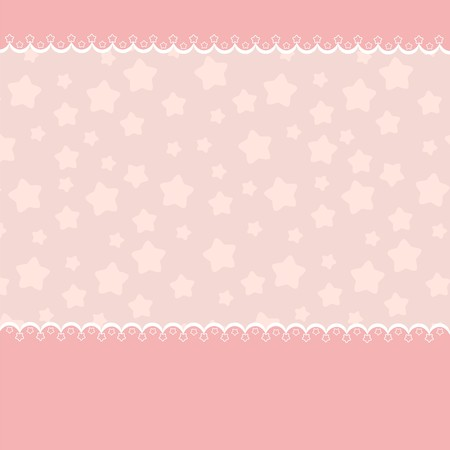 Blank template for greetings card in pink colors (EPS10) Vector