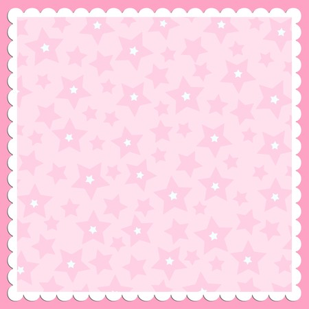 border cartoon: Blank template for greetings card or photo frame in pink colors