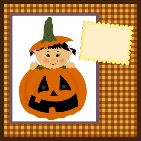 halloween greetings: Blank template for halloween greetings card or photo frame