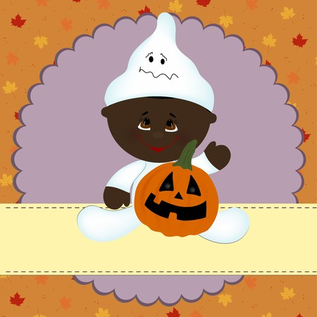 halloween greetings: Blank template for halloween greetings card or photo frame Illustration