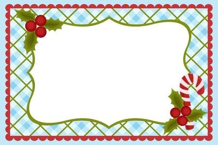 candycane: Template for babys Xmas photo album or postcard