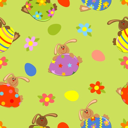 seamless easter background Stock Vector - 9124286