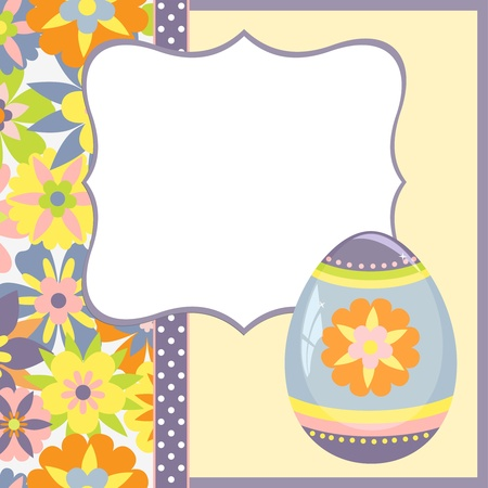 Cute template for Easter spring greetings card Vector