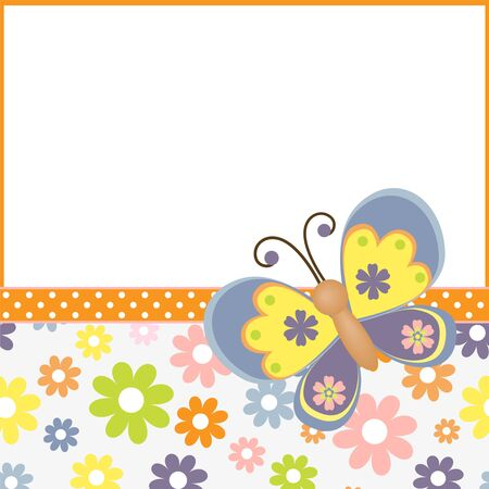 Cute template for Easter spring greetings card