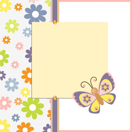Cute template for Easter spring greetings card Illustration