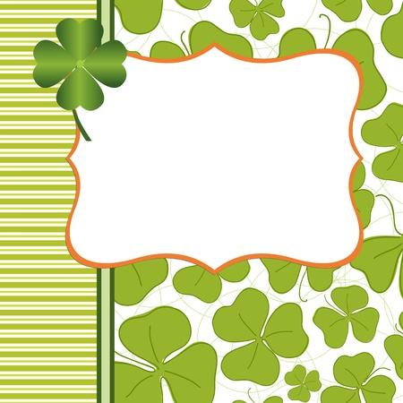 Saint Patricks Day Postcard Template Vector