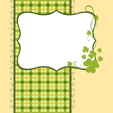 Saint Patrick's Day Postcard Template Stock Vector - 9117010