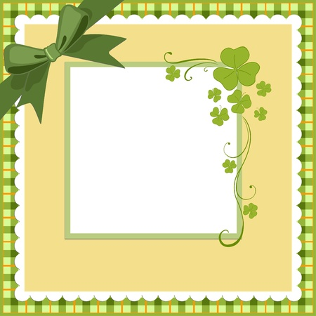 Saint Patricks Day Postcard Template Vector