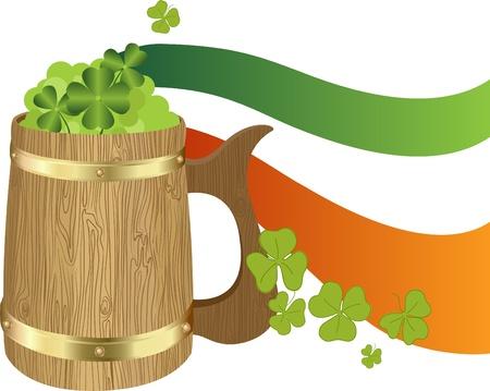 Saint Patricks Day Symbol - Irish Toby jug Vector