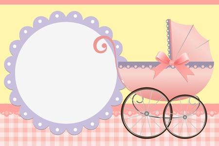 Cute template for baby's arrival announcement card or photo frame Stock Vector - 9541118