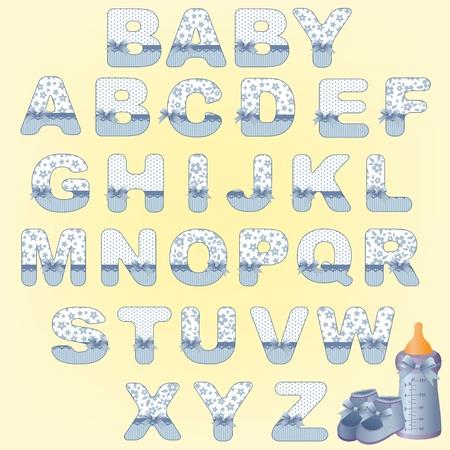 Cute babys alphabet Vector